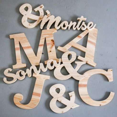 Letras de madera fotomatón Barcelona